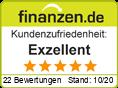 Bewertungssiegel Finanzen.de