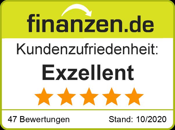 Ratingsiegel exzellent bewerteter Finanzberater